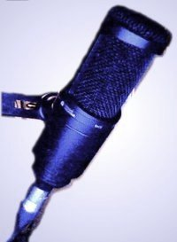image of a microphone, photo by Mike Buckthought